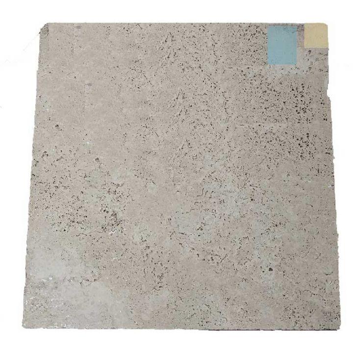 Dalle en Travertin 2ème choix sur mesure : 40.6  x 40.6 x 1.2 cm