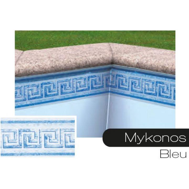 Frise pour liner piscine Mykonos bleu