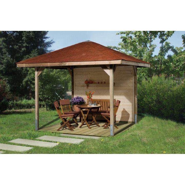 Tonnelle de jardin en bois PARADIES tailles 1 et 2 - Distripool - WEKA