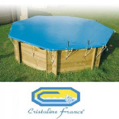 Bâche d'hiver piscine bois CRISTALINE