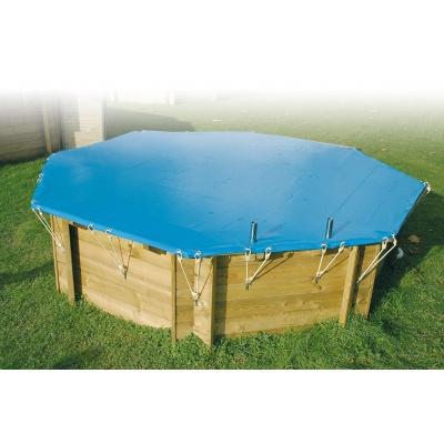 Bâche hiver piscine bois