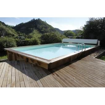 piscine bois 2m