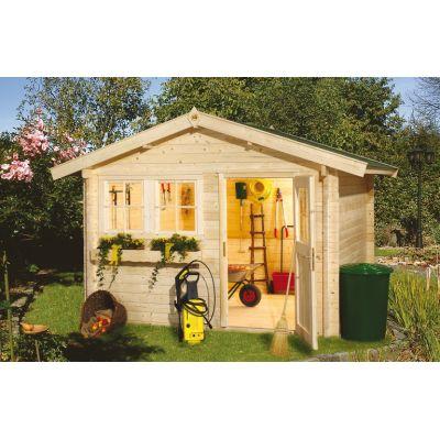 Abris jardin bois 45 mm - Distripool