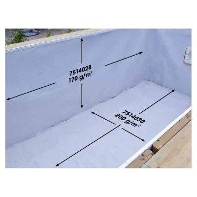 Feutre protection pour piscine bois