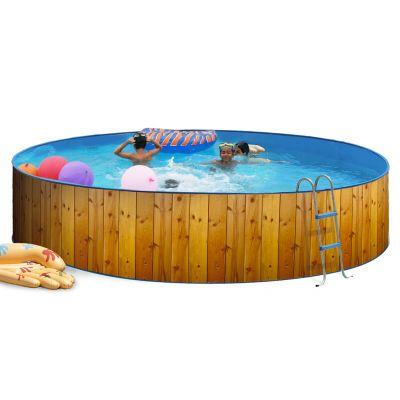piscine hors sol en acier de forme ronde prix discount. Black Bedroom Furniture Sets. Home Design Ideas