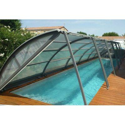 Abri piscine cintré amovible