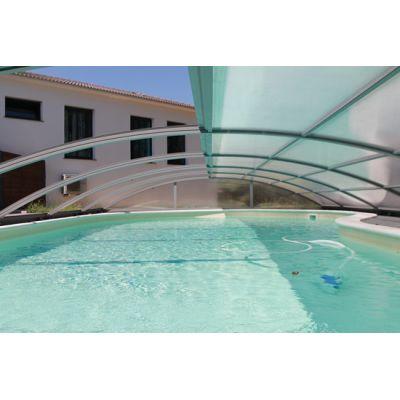 Abri piscine cintré modulable