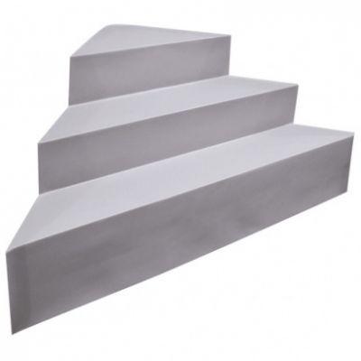 Escalier d'angle piscine acrylique sur liner