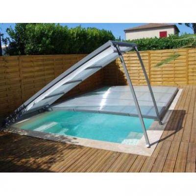 Abri piscine Plat en kit amovible cintré