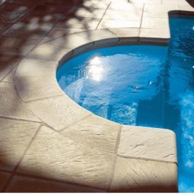Margelle piscine Ardoise - pierre reconstituée