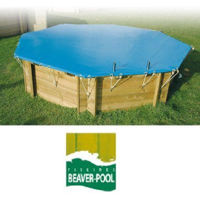 Bâche hiver piscine bois Beaverpool