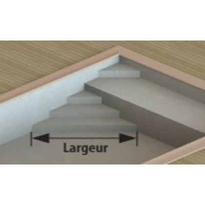 Forfait escalier liner PLAGE : Forme A