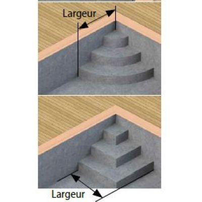 Forfait escalier d'angle 1/4 cercle