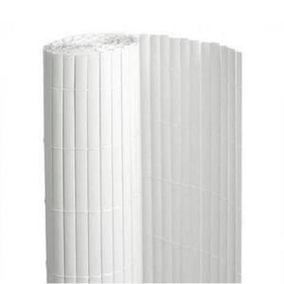 Canisse PVC double face : couleur Blanc