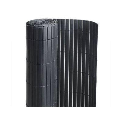 Canisse PVC double face : couleur Noir