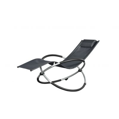 Chaise relax Ellipse - Grey