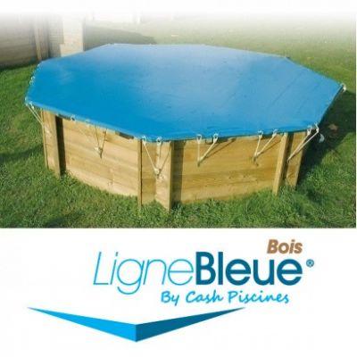 Couverture d'hiver piscine bois LIGNE BLEUE
