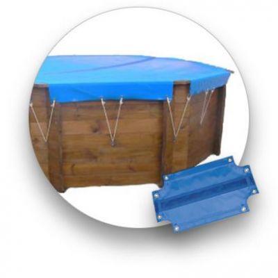 Bâche hiver piscine bois - Ubbink GMS : Tonga, Samoa, lagon
