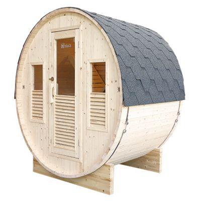 Sauna d'extérieur GAIA tonneau rond - Holl's