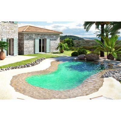 Kit piscine avec plage en caoutchouc for Kit piscine
