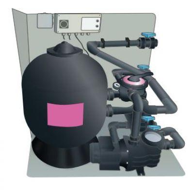 Box filtration DISTRI-BOX sur palette monté en usine