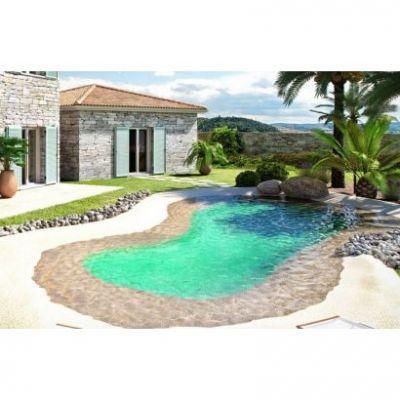 piscine avec plage en caoutchouc LUXE
