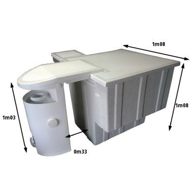Bloc filtrant monobloc piscine for Bloc skimmer hors bord