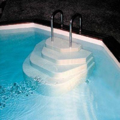 Escalier sur liner piscine : Athena ACCELO
