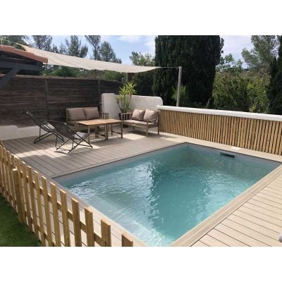 Piscine en Kit Construction Traditionnelle BETON CARRE