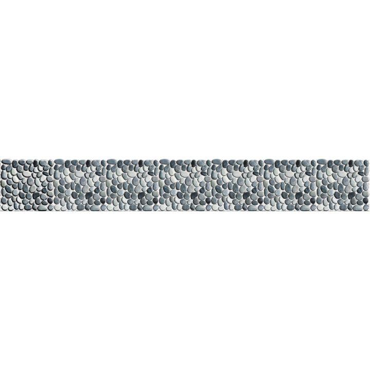 Frise Piscine Auto Collante Galets 24 Cm X 5 M