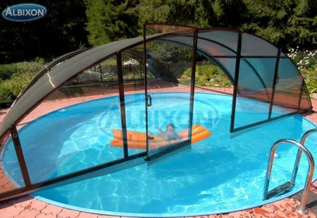 Piscine coque ronde albistone by albixon albixon for Dimension piscine coque