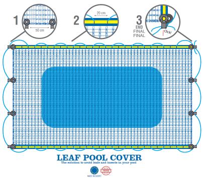 leaf pool cover plan technique bache