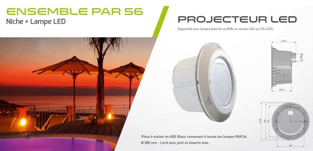 dimensions lampe LED WA