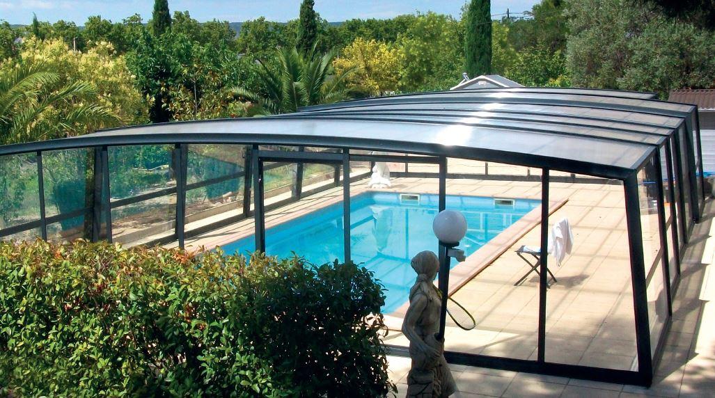 abri piscine haut design