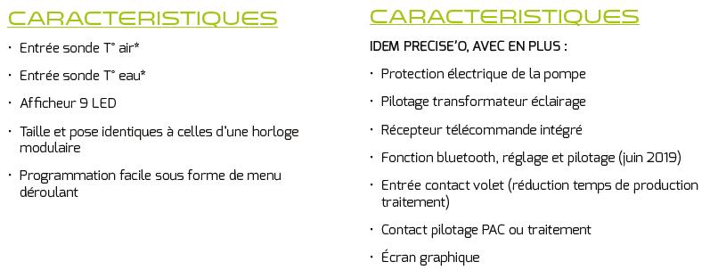 caracteristique module preciseo