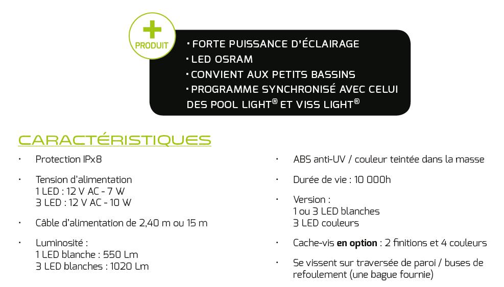 fiche technique mini projecteur led pisicne star light