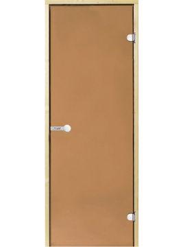 Portes en verre sauna Bronze