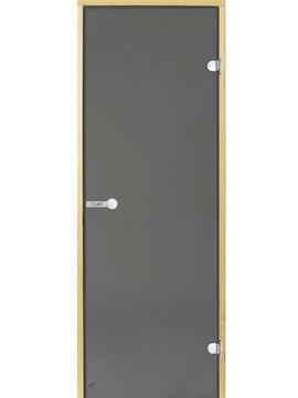 Portes en verre sauna gris