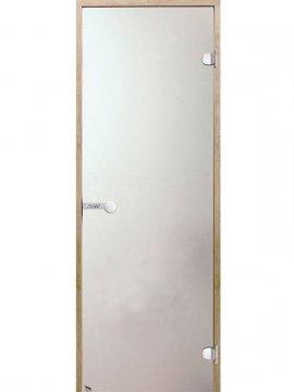 Portes en verre sauna satin