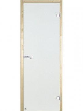 Portes en verre sauna transparent