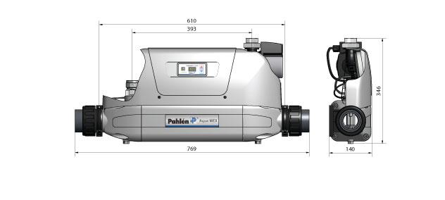 Dimensions echangeur chaleur  AquaMex
