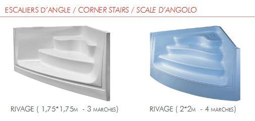 collection escalier angle acrylique
