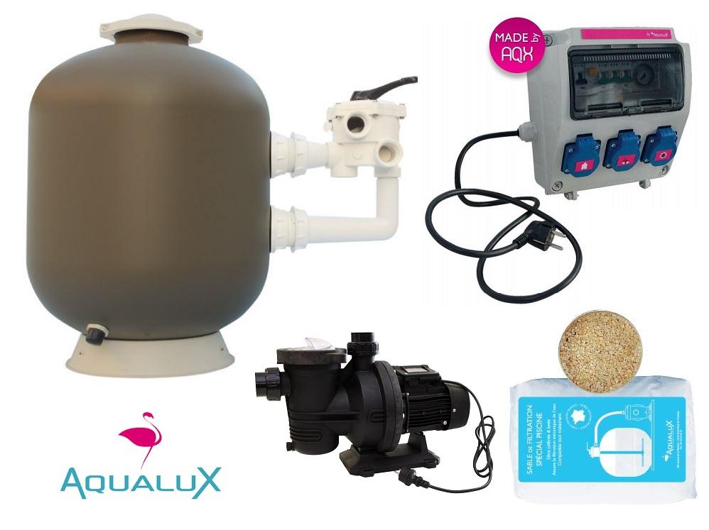 kit de filtration piscine luxe by aqualux distripool. Black Bedroom Furniture Sets. Home Design Ideas