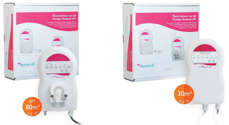 pack electrolyseur + regulateur PH Aqualux piscine hors sol