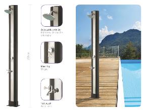 douche solaire 35 L en PVC et rince pieds