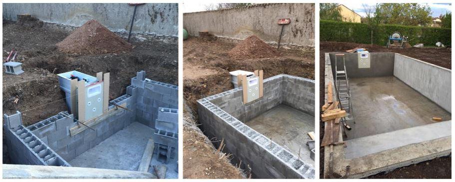 mur filtrant compatible piscine beton
