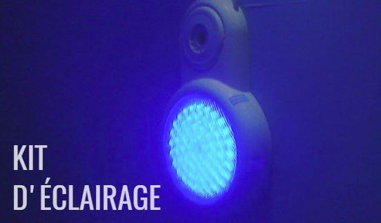 Lampe LED RGB pour piscine hors-sol photo eau