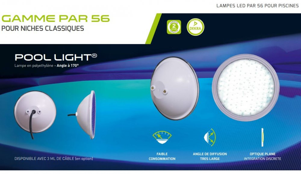 banniere lampe LED PAR56 POOL LIGHT WA-CONCEPTION