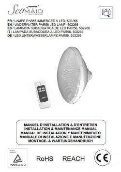 Logo Notice - Ampoule PAR56 SEAMAID - 270 LED RVB Tel