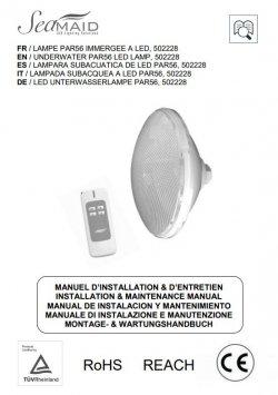 Logo Notice - Ampoule PAR56 SEAMAID - 39 LED W Tel